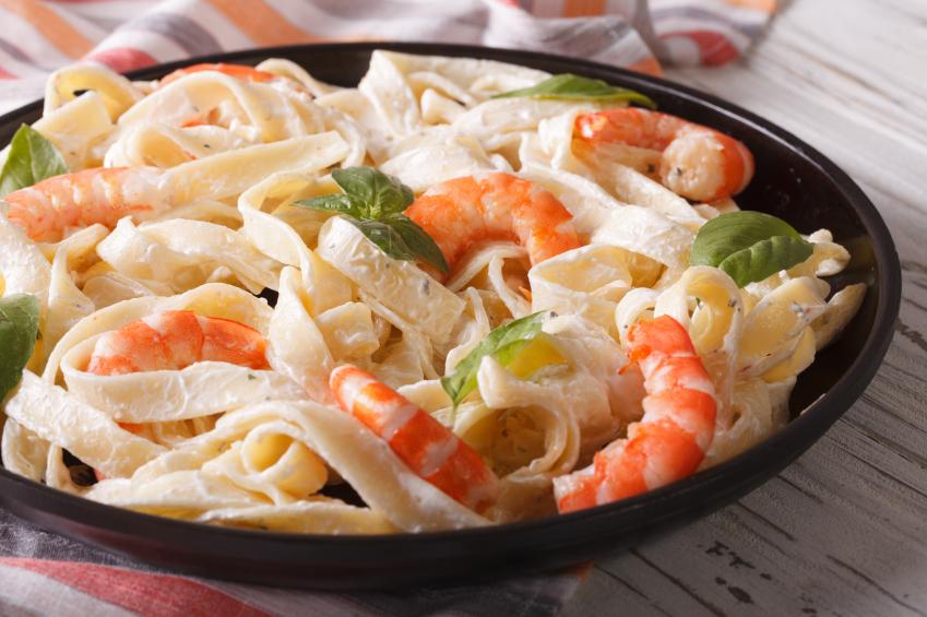 Image Result For Receta Pasta Con Camarones Alfredo