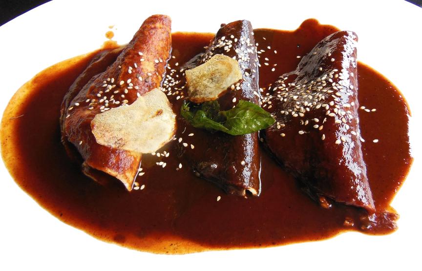 enchiladas de mole vegetarianas   CocinaDelirante