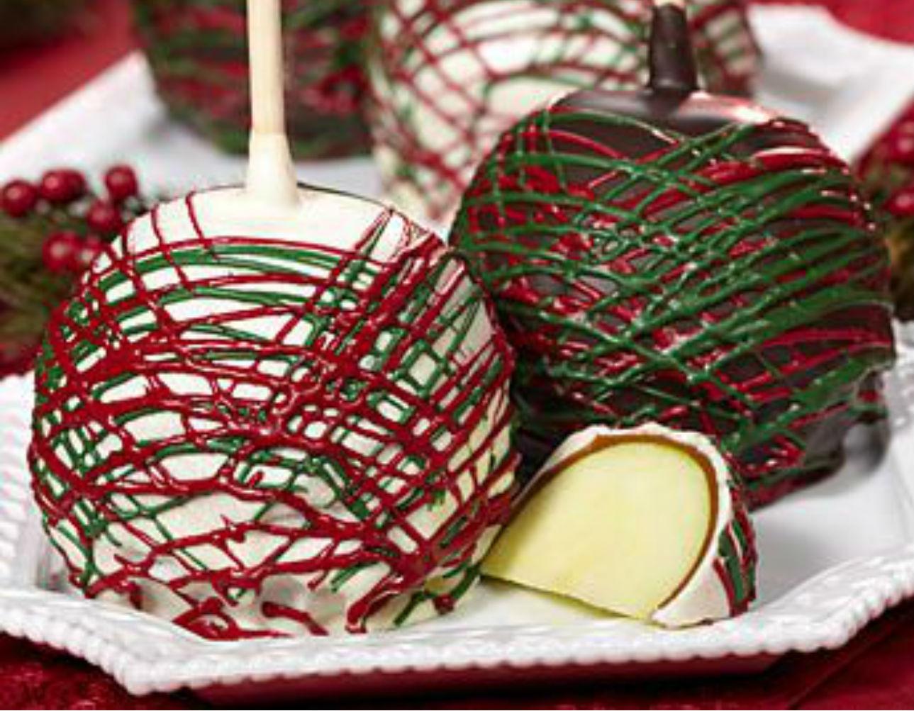 Receta de como hacer manzanas cubiertas de chocolate for Paletas de cocina decoradas