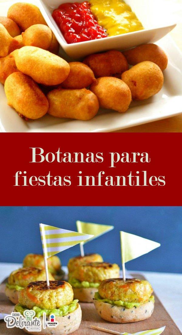 Botanas para fiestas infantiles cocinadelirante - Como hacer una fiesta infantil economica ...