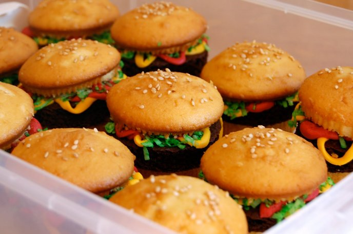 Nerdy Nummies Burger Cake