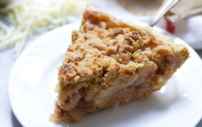 Tarta de manzana con deliciosa costra