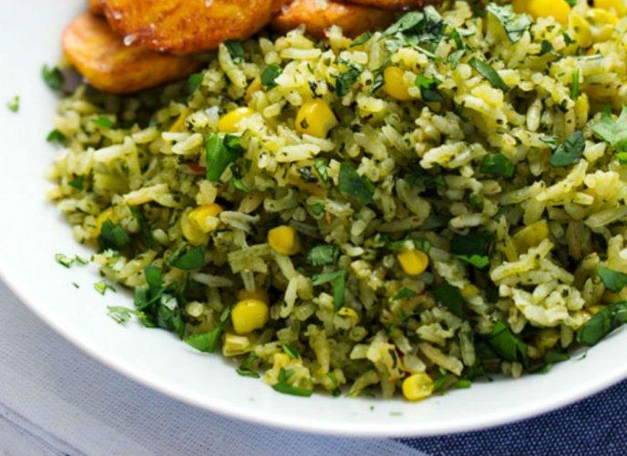 Receta arroz verde poblano cocinadelirante for Cocinar 2 tazas de arroz