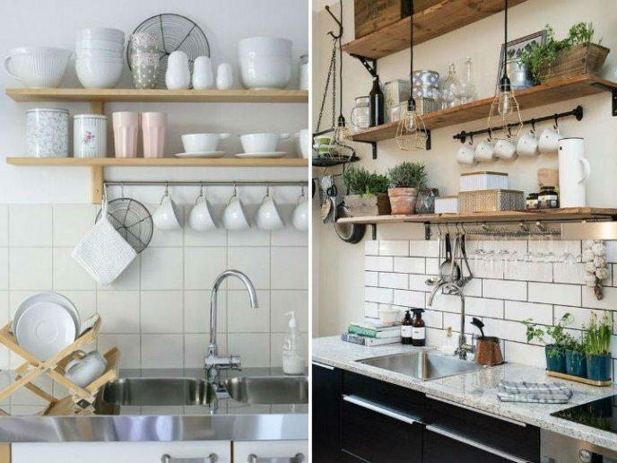 Decoracion Para Cocinas Decoracin Para Cocinas Pequeas Estantes Y - Decoracion-para-cocina