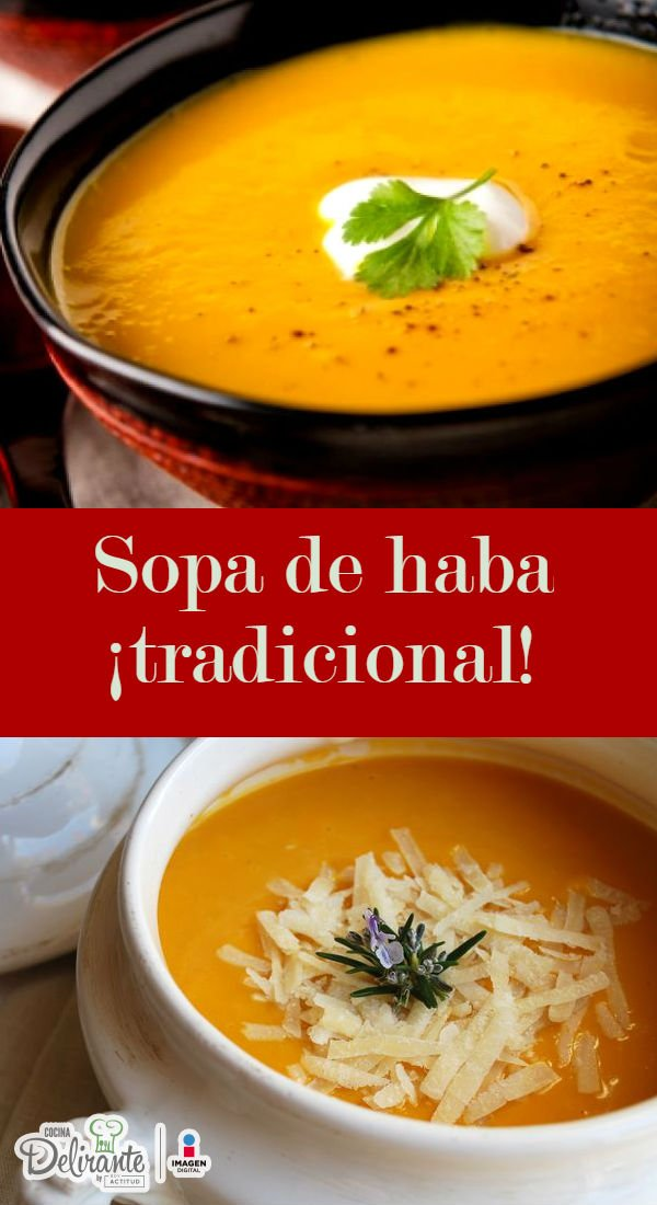 Receta sopa de habas secas cocinadelirante for Como cocinar habas secas