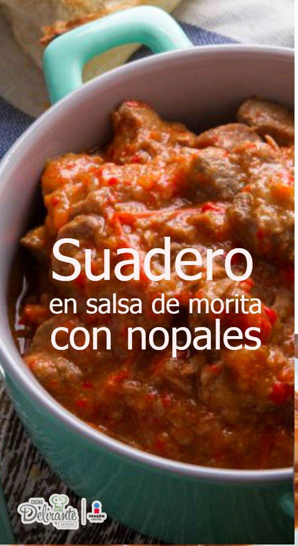 Receta de carne con chile cocinadelirante for Cocinar nopal