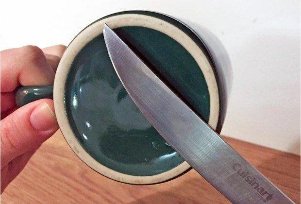 Truco para afilar cuchillos sin afilador