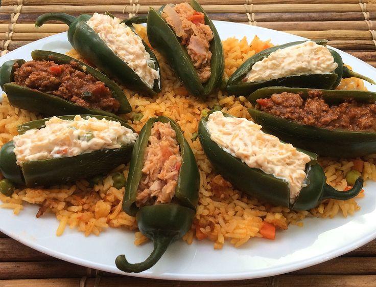 Chiles jalape os rellenos de at n fr os for Mesas para negocio comidas rapidas