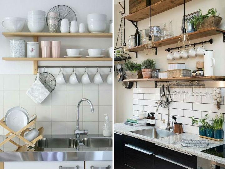 5 formas creativas para decorar tu cocina con repisas for Decoracion de cocinas pequenas con repisas