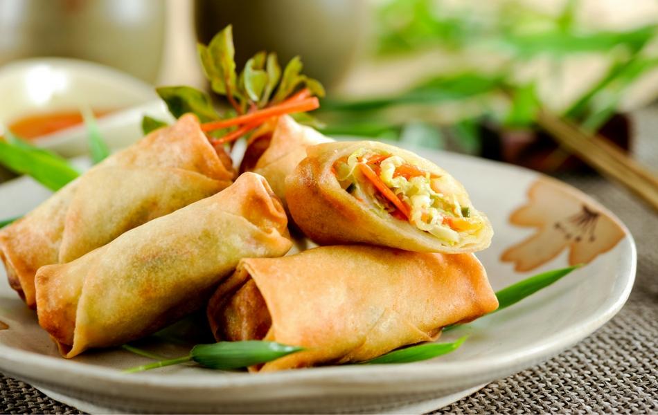 Receta de rollitos primavera fáciles ¡con tortilla de harina ...