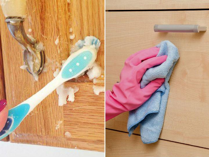 Como limpiar la grasa pegada en los muebles de la cocina