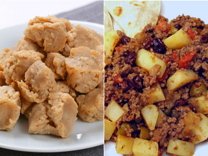 Como preparar carne de soya facil - Como cocinar soja texturizada ...