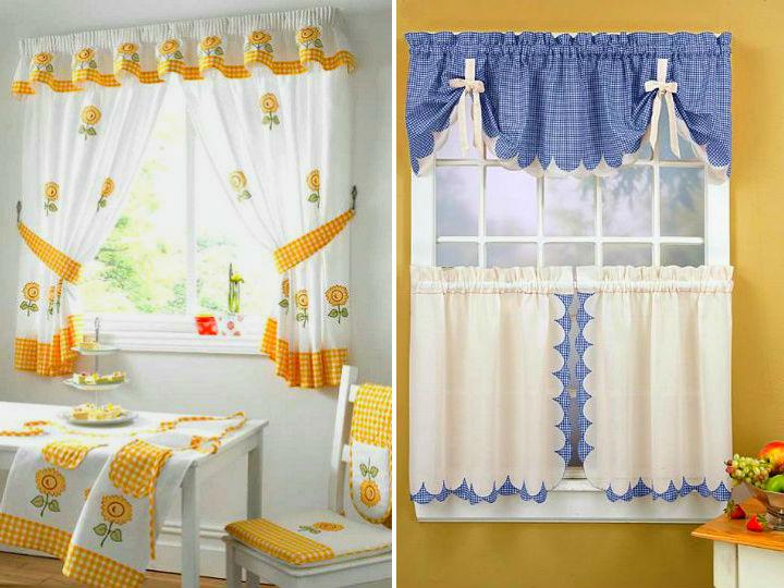 Estilos de cortinas para la cocina - Que cortinas poner en la cocina ...