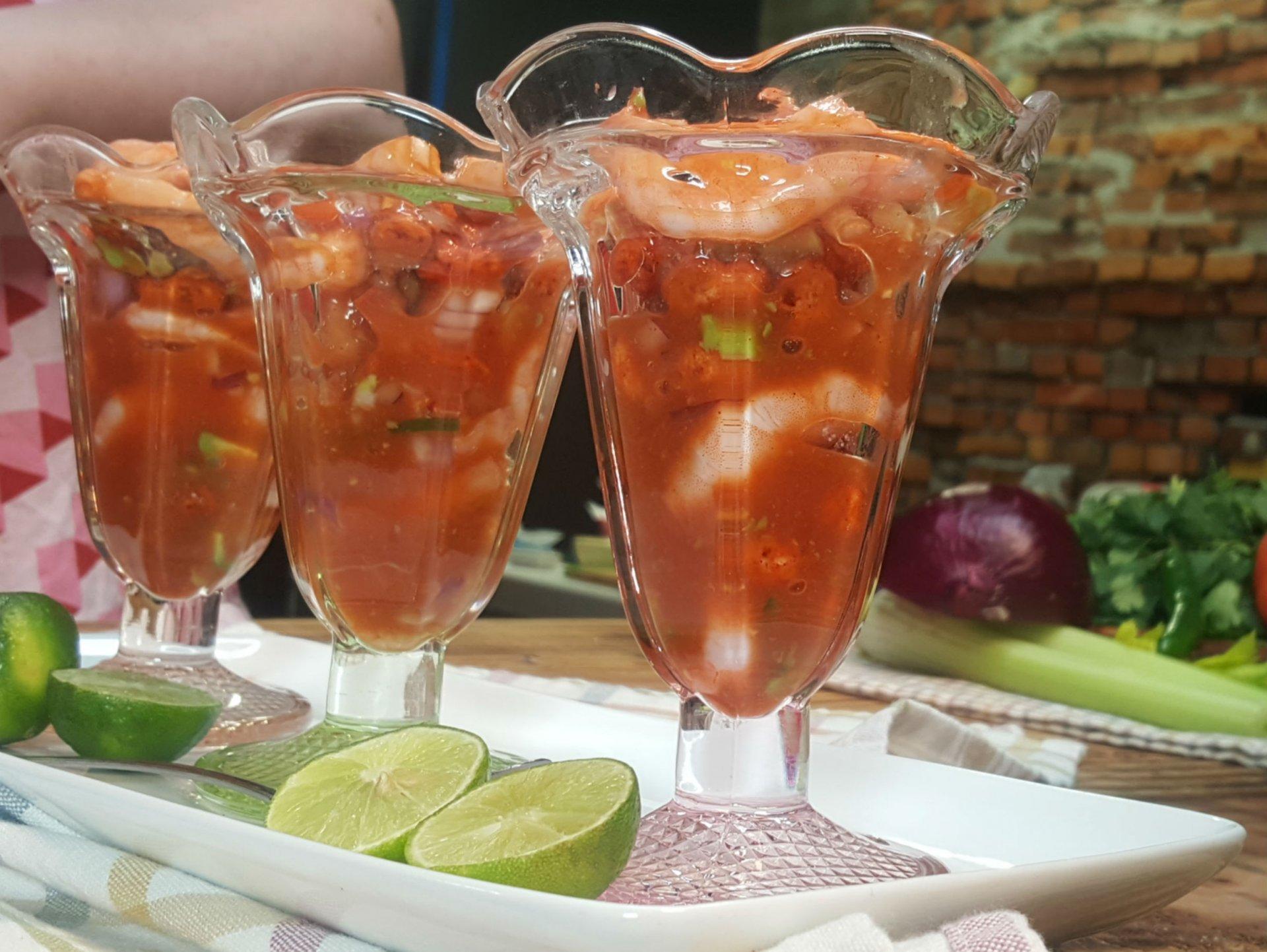 Receta de coctel de camarones mexicano cocinadelirante - Coctel de marisco ingredientes ...