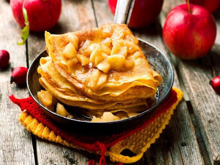 crepas de avena con manzana y canela receta facil