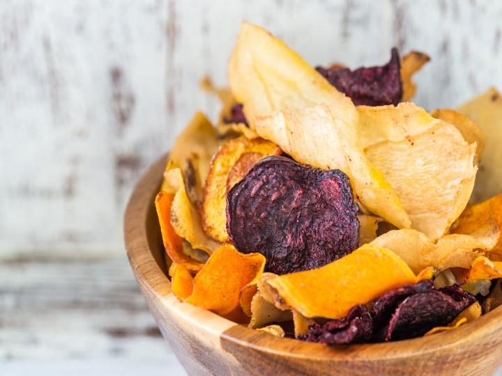 Receta Facil De Chips De Verduras Crujientes
