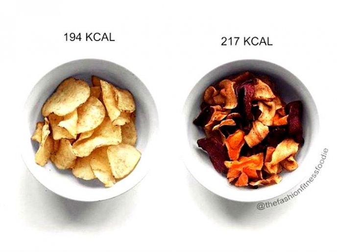 Comparaci n entre la comida sana y la comida chatarra - Calorias boquerones en vinagre ...