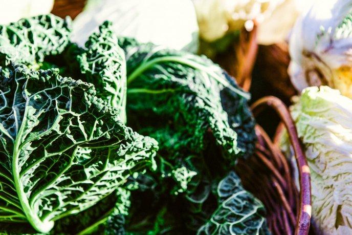 beneficios del jugo de col verde