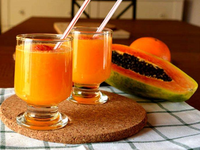 Jugo de papaya y avena para adelgazar