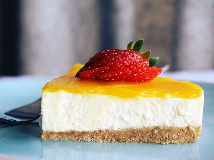 cheesecake de chocolate blanco sin horno