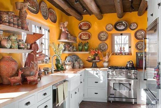 Talavera Blanca Mexicana Cocinas Casa De Campo Cocinas Azulejos