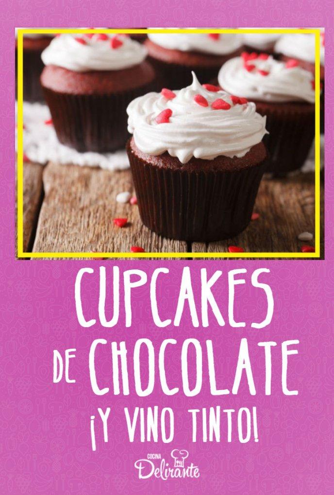 como hacer cupcakes de chocolate con vino tinto