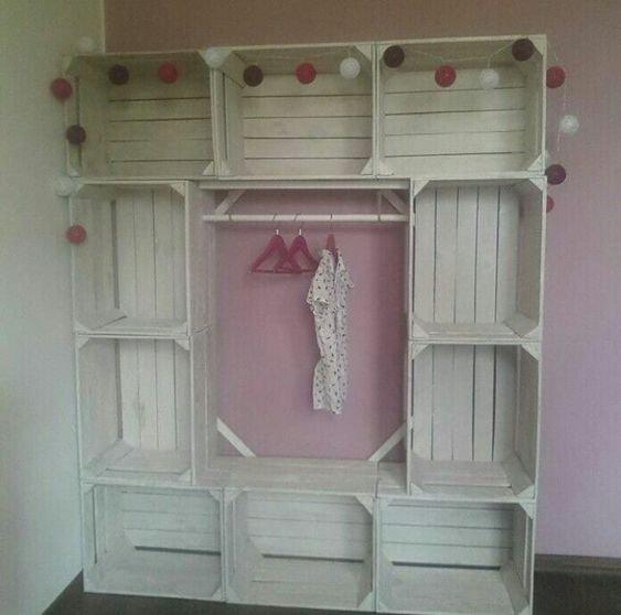 Como hacer un closet de huacales - Como hacer un closet en una habitacion ...