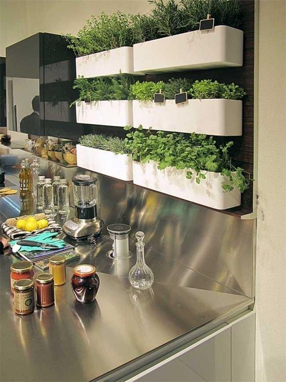 como hacer un jardin colgante en la cocina