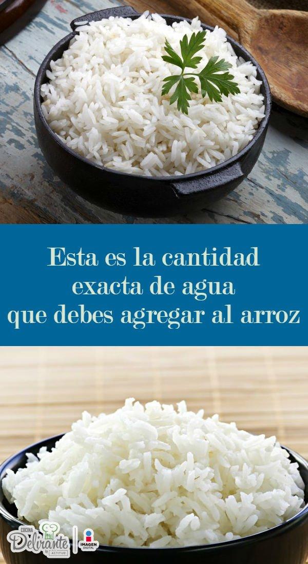 Porcion de arroz para 1 persona