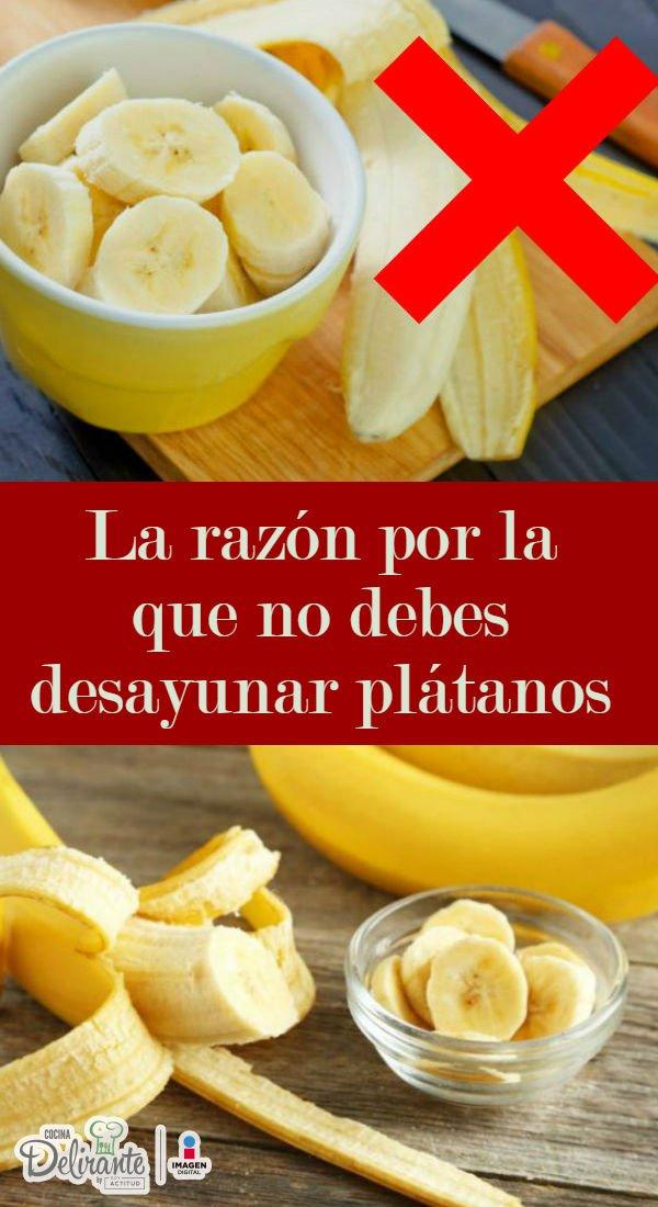 Por Qu 233 No Debes Desayunar Platano Cocinadelirante