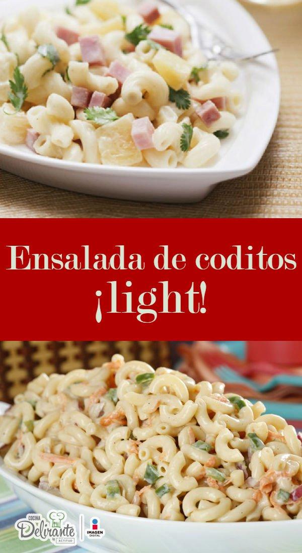 ensalada de coditos light cocinadelirante