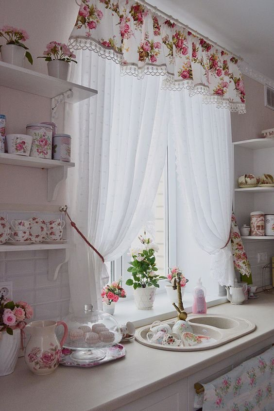 Estilos de cortinas para la cocina for Estilos de cortinas