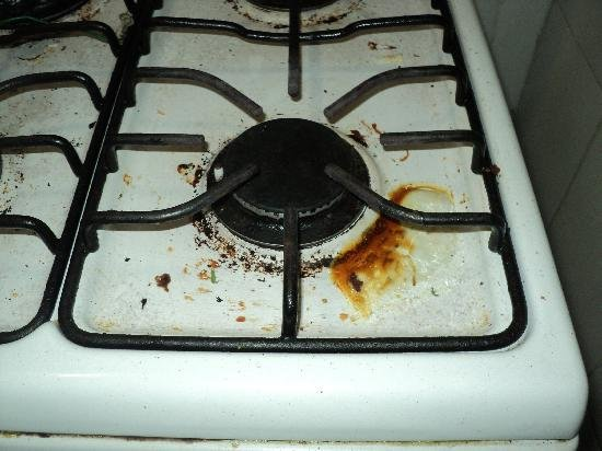 truco para limpiar el cochambre de la estufa