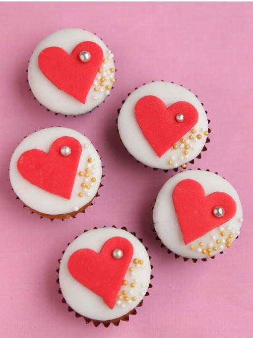 Cupcakes San Valentin Cocinadelirante