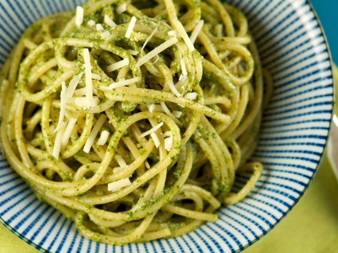 Receta de espagueti verde cocinadelirante - Como hacer espaguetis al pesto ...