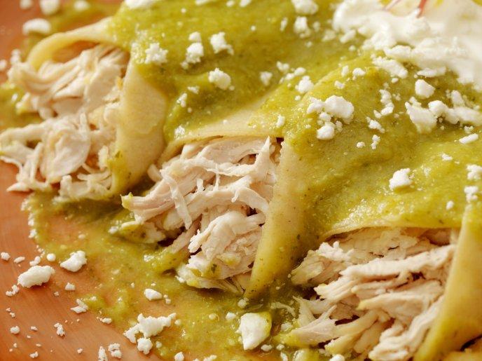 how to make mexican enchiladas verdes