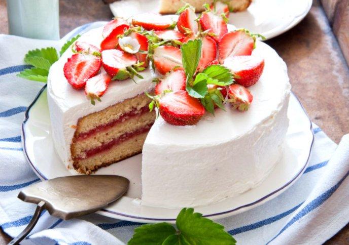 Pastel De Fresas Con Crema Receta Deliciosa