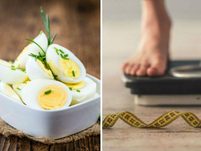 Como bajar de peso con huevo duro