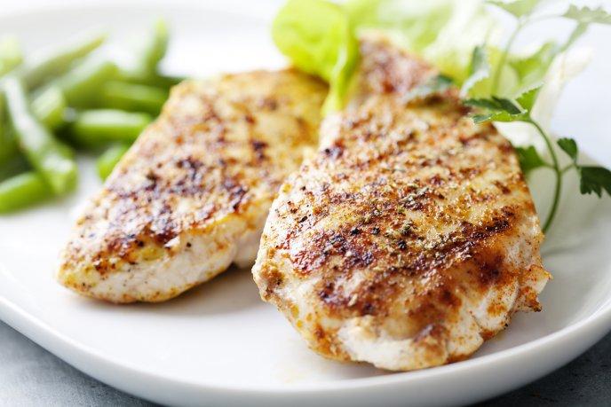 Dieta del pollo asado