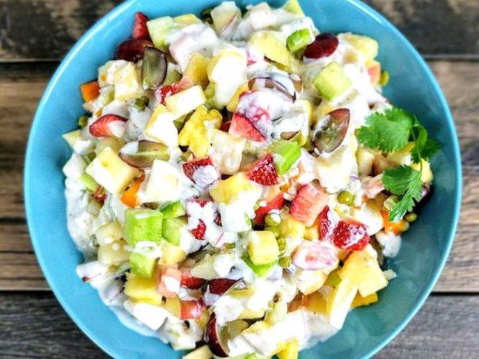 receta para hacer ensaladas de frutas y verduras