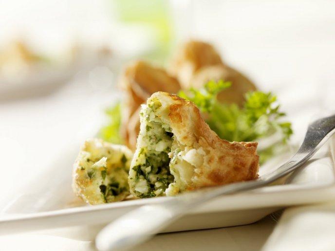 tortitas de papa con verduras