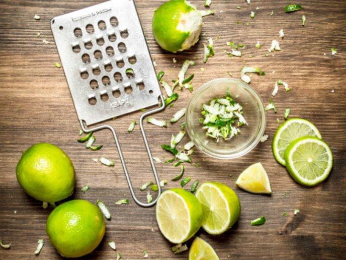 Limon congelado y rallado para adelgazar