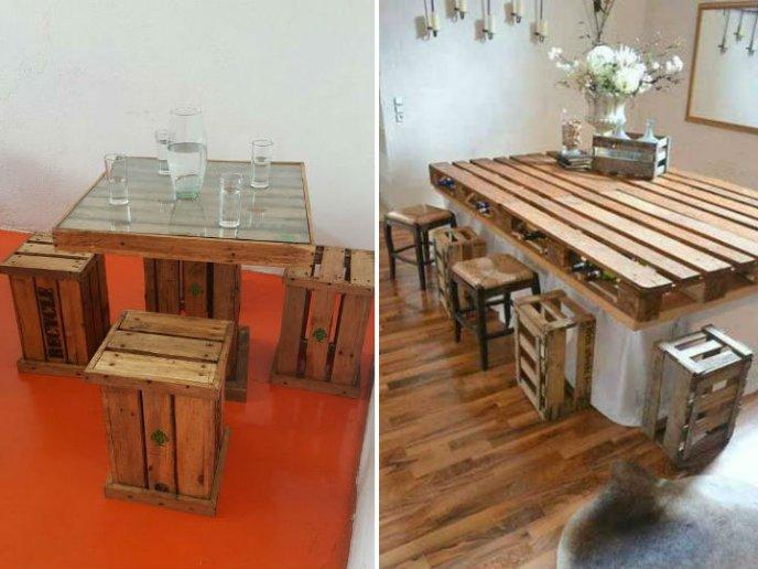 Como hacer una mesa con huacales