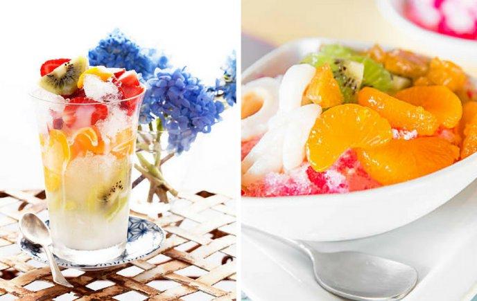 Cholados de fruta y hielo