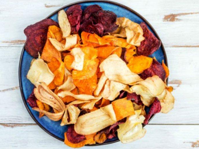 como hacer chips de verduras en microondas