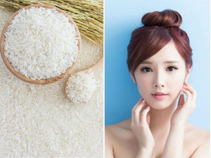 agua de arroz para la cara preparacion