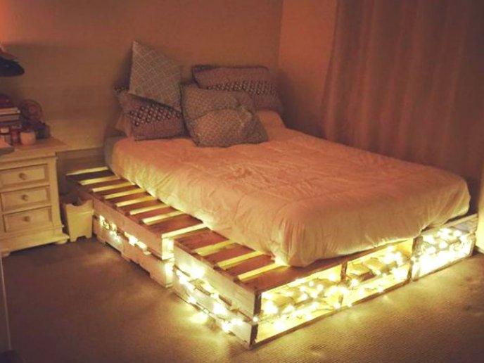 camas hechas con tarimas