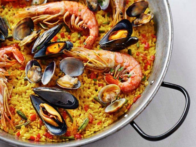 Receta Paella De Mariscos