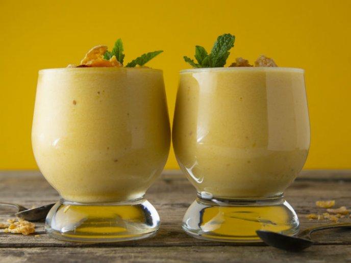 Con leche condensada batido mango