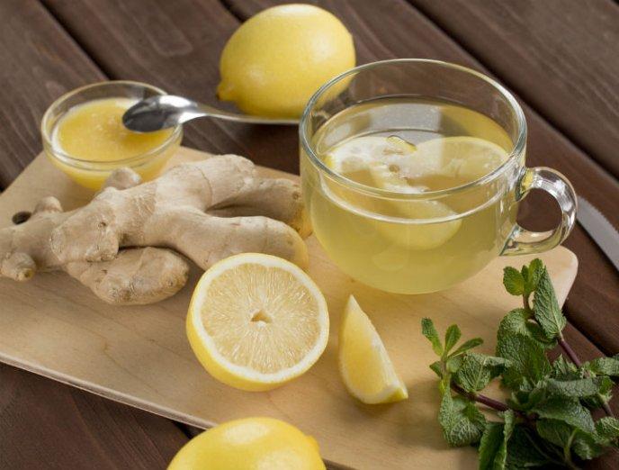 Hacer jengibre limon y con te como